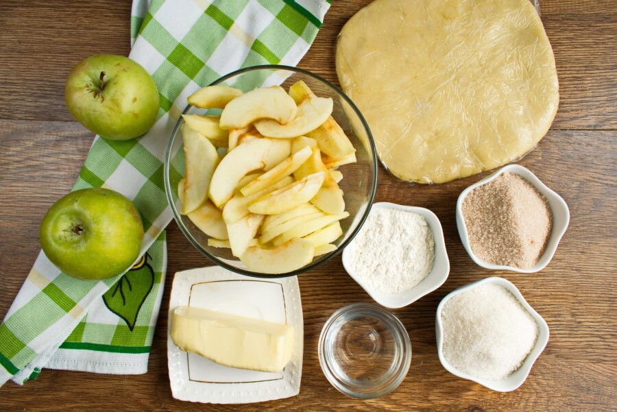 Ingridiens for Apple Pie by Grandma Ople