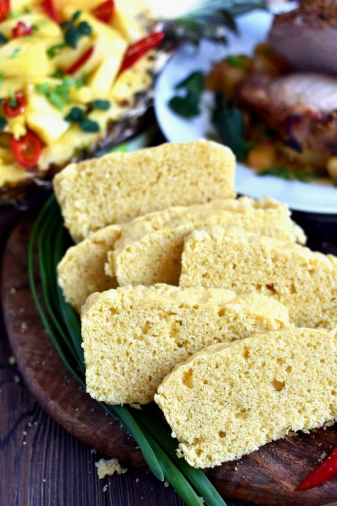 You won't find anything easier - sweet and moist golden cornbread