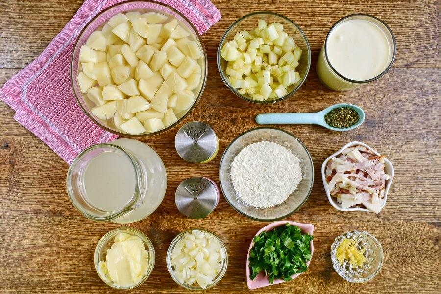 Ingridiens for Easy Creamy Potato Soup