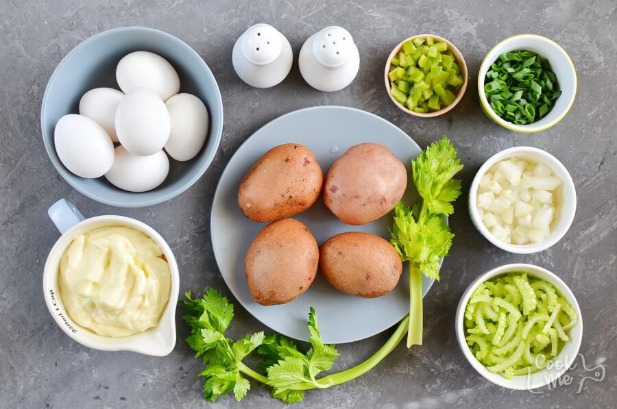 Ingridiens for American Potato Salad