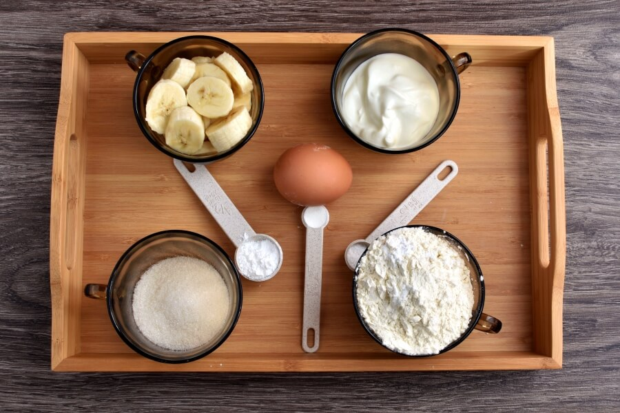 Ingridiens for Easy Banana Muffins
