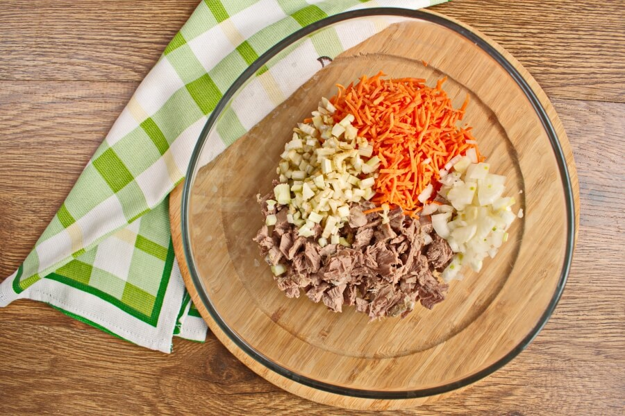 Beef Salad Sandwich Filling recipe - step 1