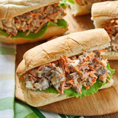 Beef Salad Sandwich Filling recipe-How To Make Beef Salad Sandwich Filling-Beef Salad Sandwiches