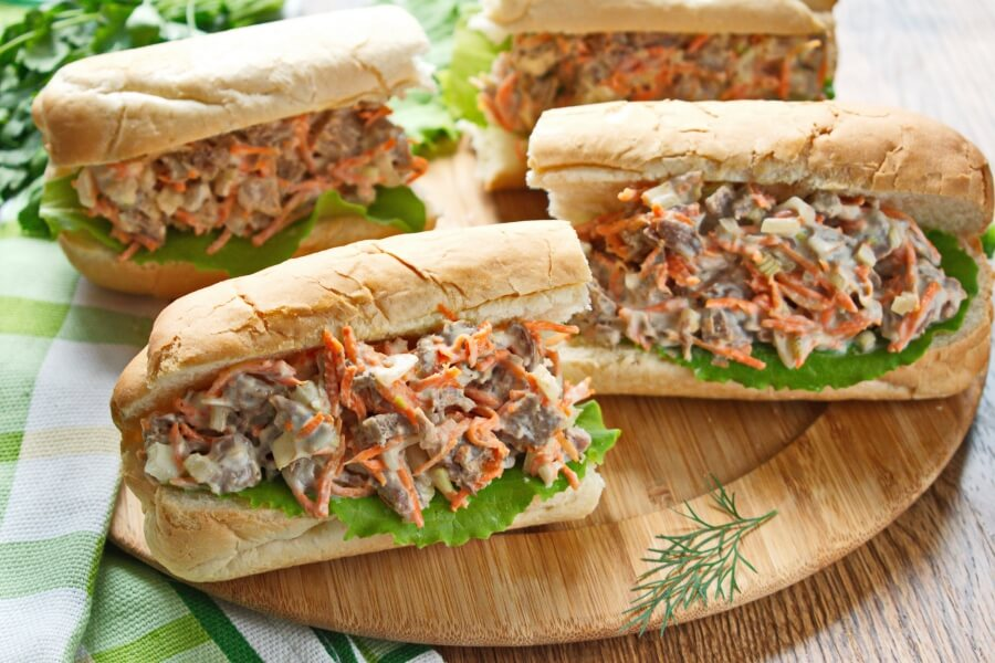 How to serve Beef Salad Sandwich Filling