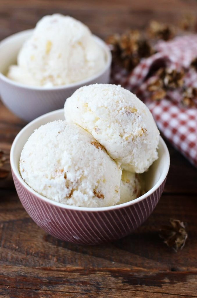 Luxury sophisticated ice cream made with special black walnuts