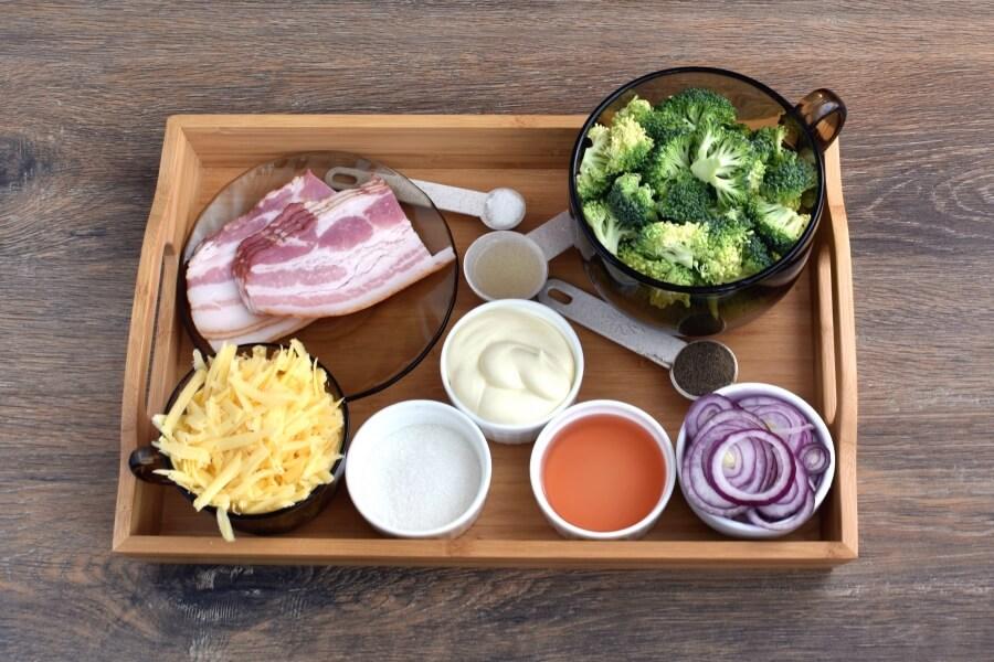 Ingridiens for Bodacious Broccoli Salad