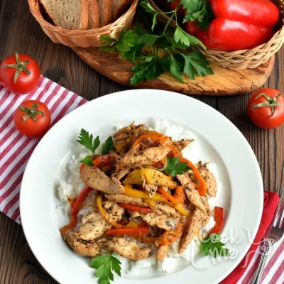 Chicken and Peppers with Balsamic Vinegar Recipe-Homemade Chicken and Peppers with Balsamic Vinegar-How To Make Chicken and Peppers with Balsamic Vinegar