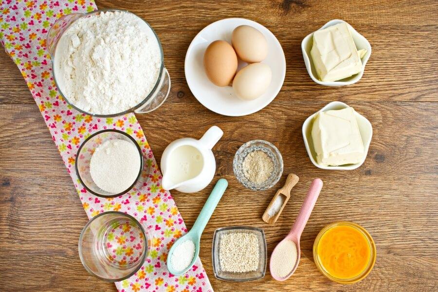 Ingridiens for Choereg – Armenian Easter Bread