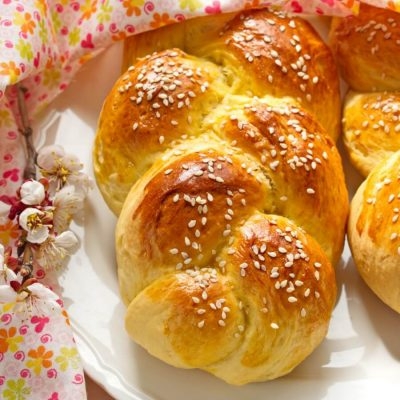 Choereg (Armenian Easter Bread)-Armenian Easter Bread-How To Make Braided Choereg for Easter