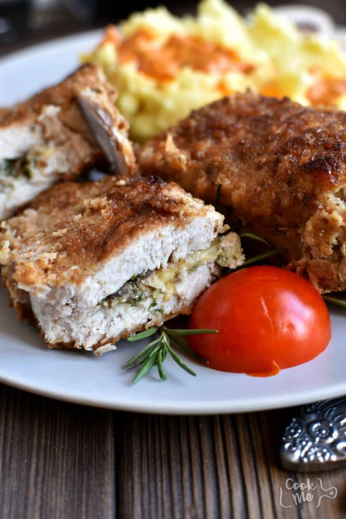 Gourmet Stuffed Pork Chops Recipe-Homemade Gourmet Stuffed Pork Chops-How To Make Gourmet Stuffed Pork Chops