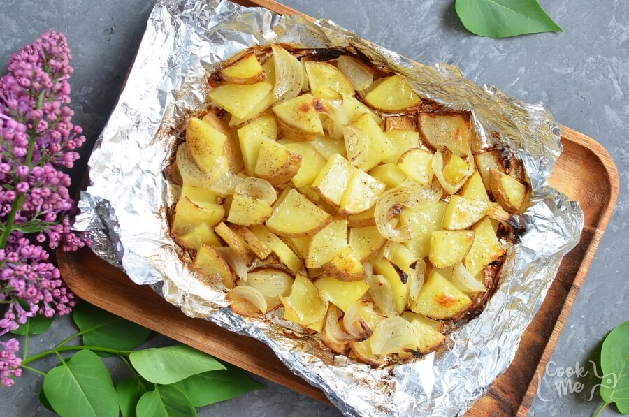 Grilled Potatoes and Onion recipe - step 5