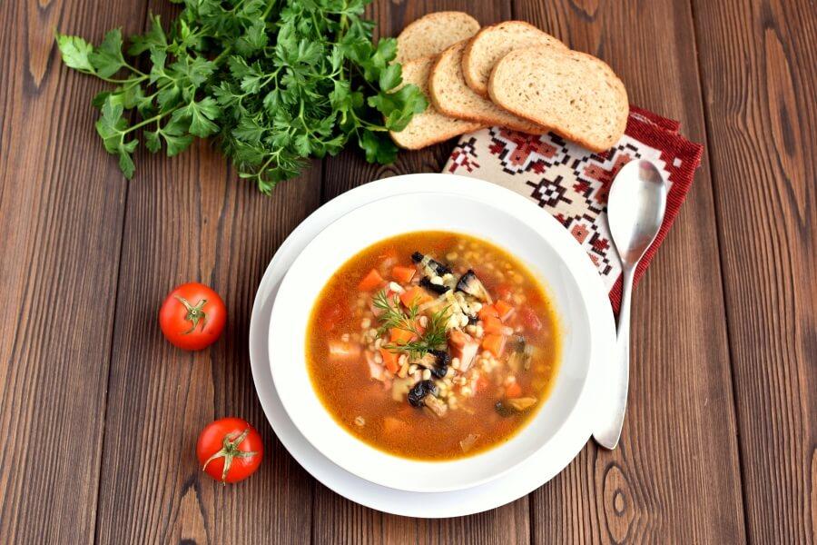 How to serve Ham and Mushroom Barley Soup