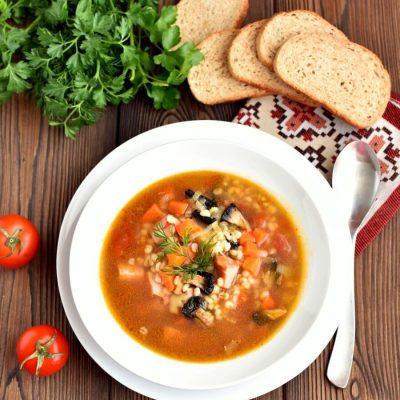Ham and Mushroom Barley Soup Recipe-Delicious Ham and Mushroom Barley Soup-How To Make Ham and Mushroom Barley Soup