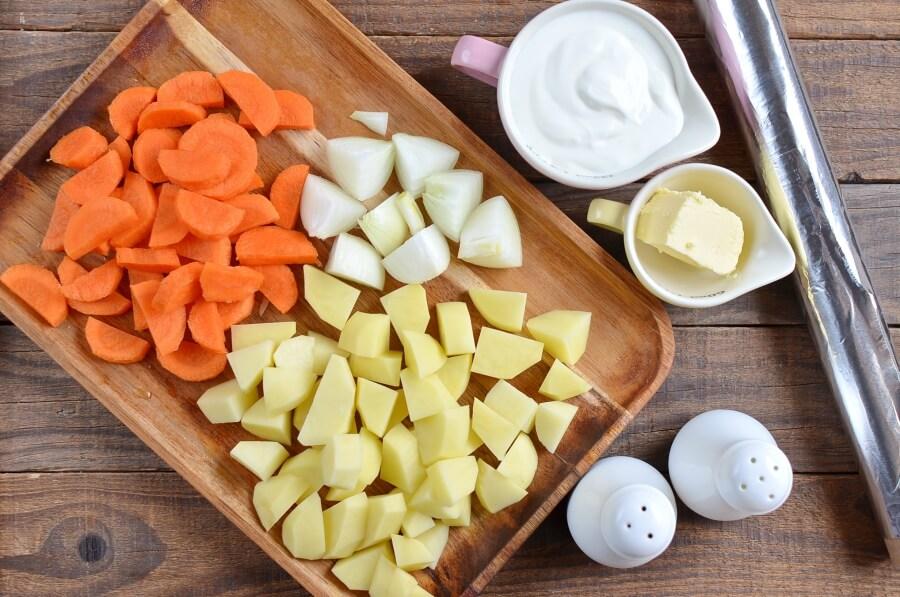 Ingridiens for Easy Hobo Potatoes