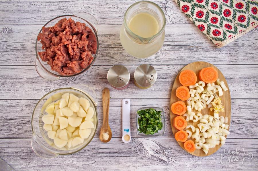 Ingridiens for Homemade Albondigas Soup