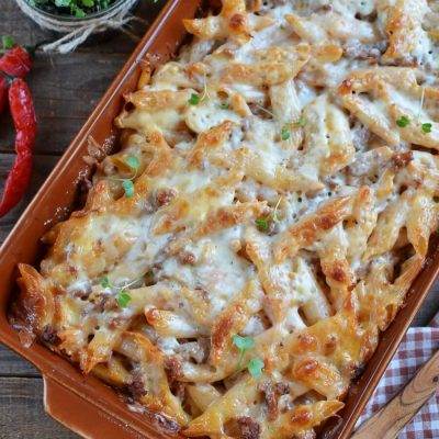 Kid's Favorite Pizza Casserole-Baked Pizza Casserole-How to make Kid's Favorite Pizza Casserole