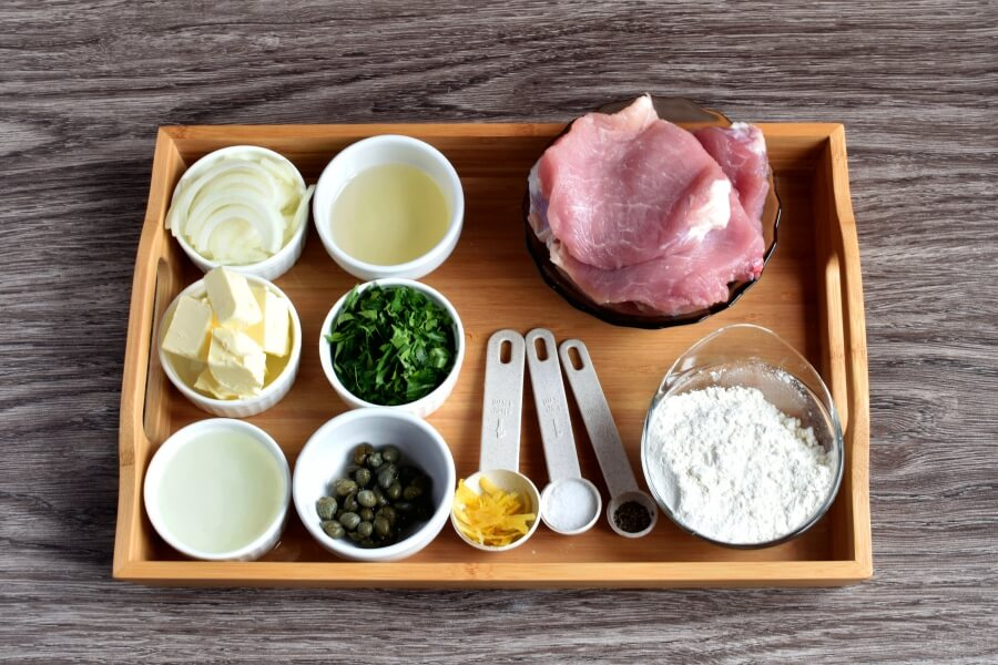 Ingridiens for Lemony Pork Piccata