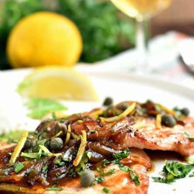 Lemony Pork Piccata Recipe-Homemade Lemony Pork Piccata- Delicious Lemony Pork Piccata