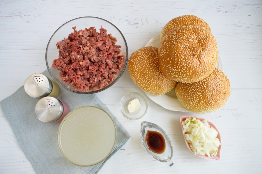 Ingridiens for Loose Meat on a Bun, Restaurant Style
