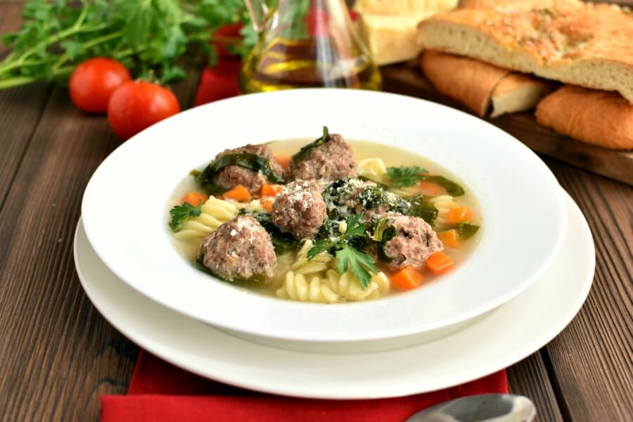 How to serve Mama's Italian Wedding Soup