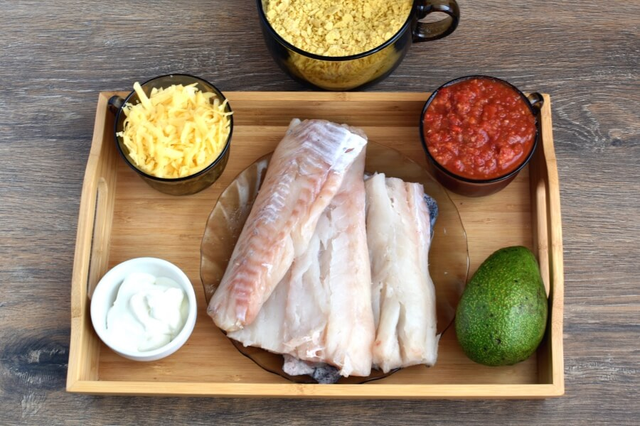 Ingridiens for Mexican Baked Fish