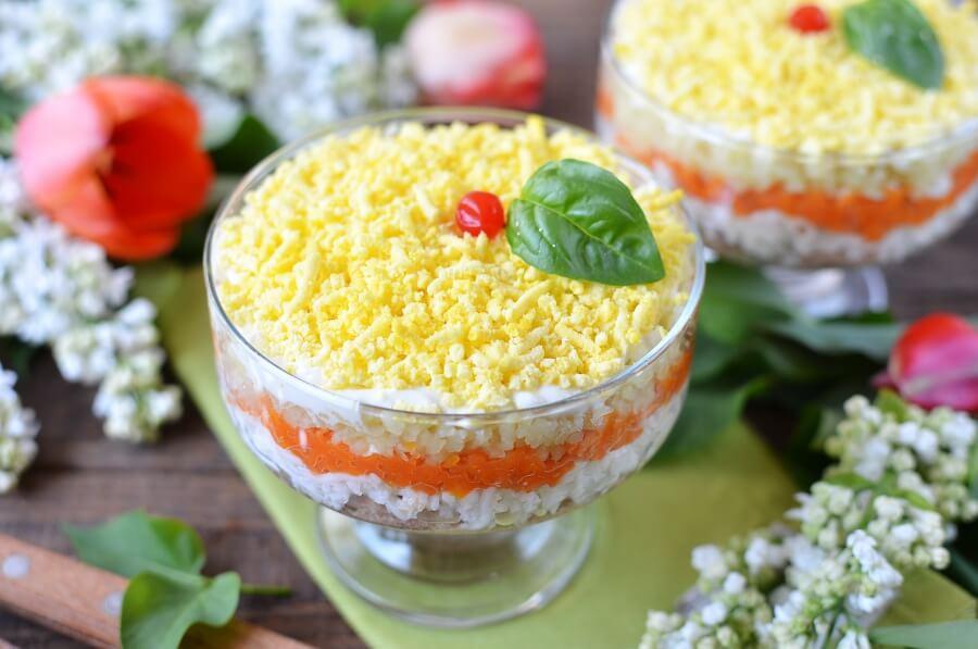 Mimosa Salad-Mimosa Salad Recipe-How To Make Mimosa Salad Recipe