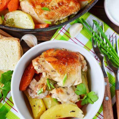 Mom's Chicken En Cocotte Recipe-Easy Mom's Chicken En Cocotte Recipe-Homemade Mom's Chicken En Cocotte