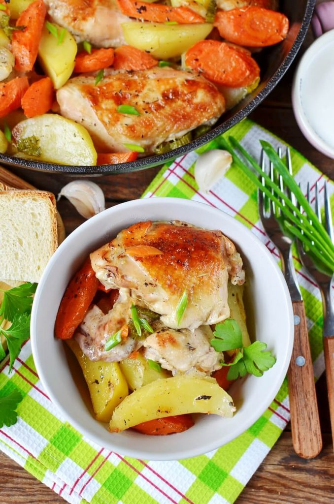 Rustic and wholesome chicken