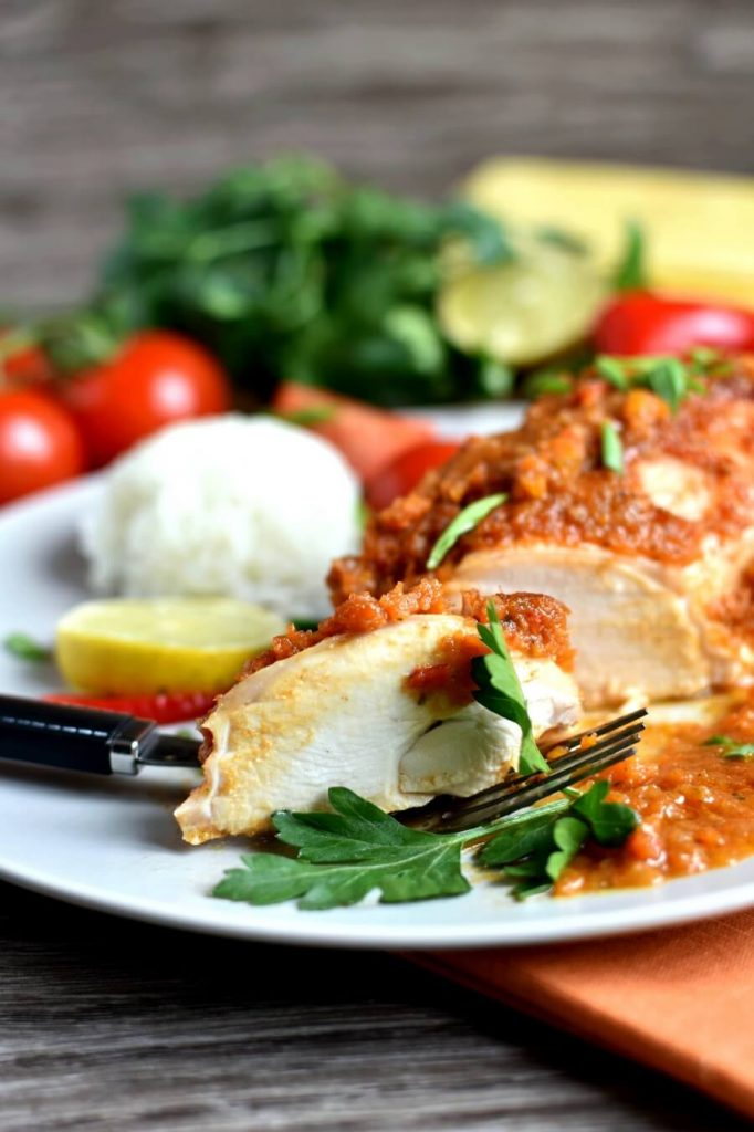 Hot and spicy, traditional Mexican chicken