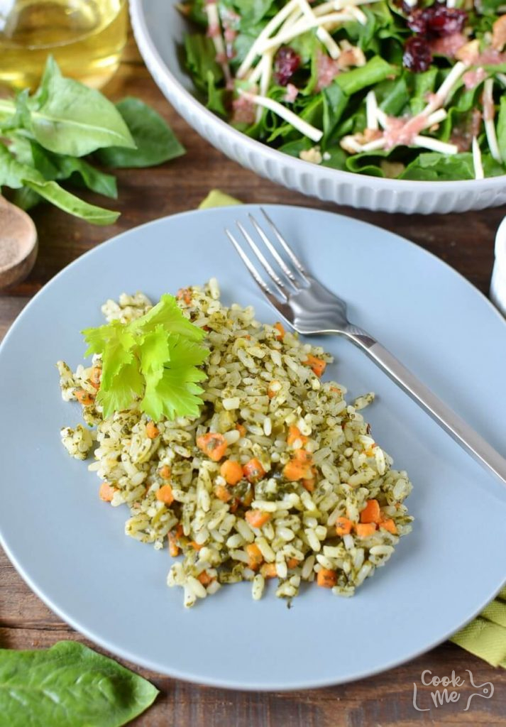 Authentically Indian, Spinach Rice