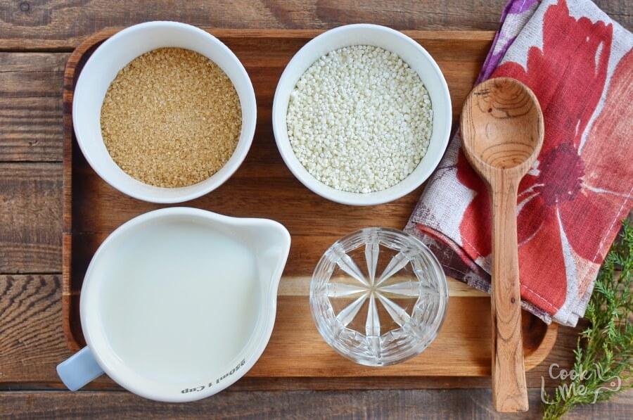 Ingridiens for Sago Pudding (Gula Melaka)