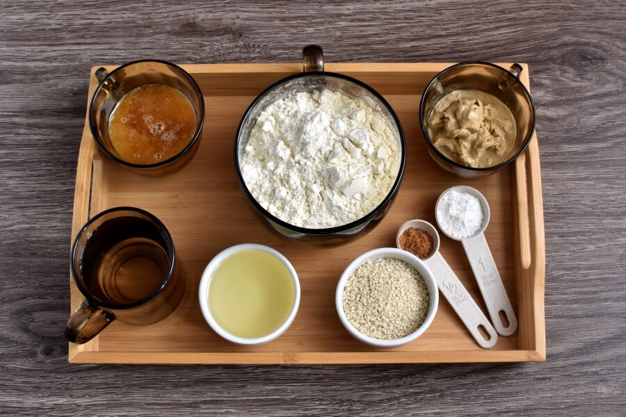 Ingridiens for Easy Sesame Coffee Cake