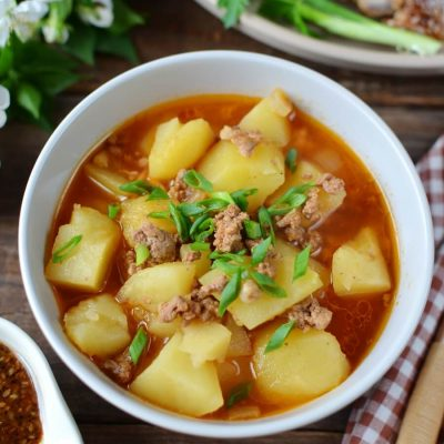 Spicy Potato Soup Recipe-Slow Cooker Spicy Potato Soup-How To Make Spicy Potato Soup