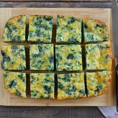 How to serve Spinach Cheese Squares