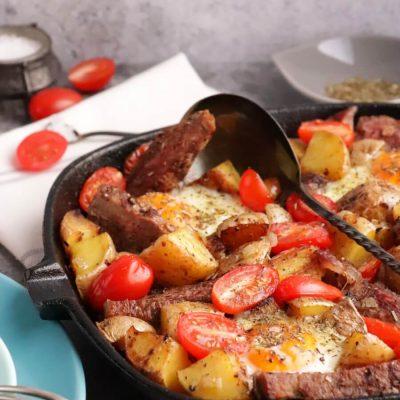 Steak and Egg Hash Recipe-Best Steak & Eggs Hash-How to Make Steak and Eggs Hash