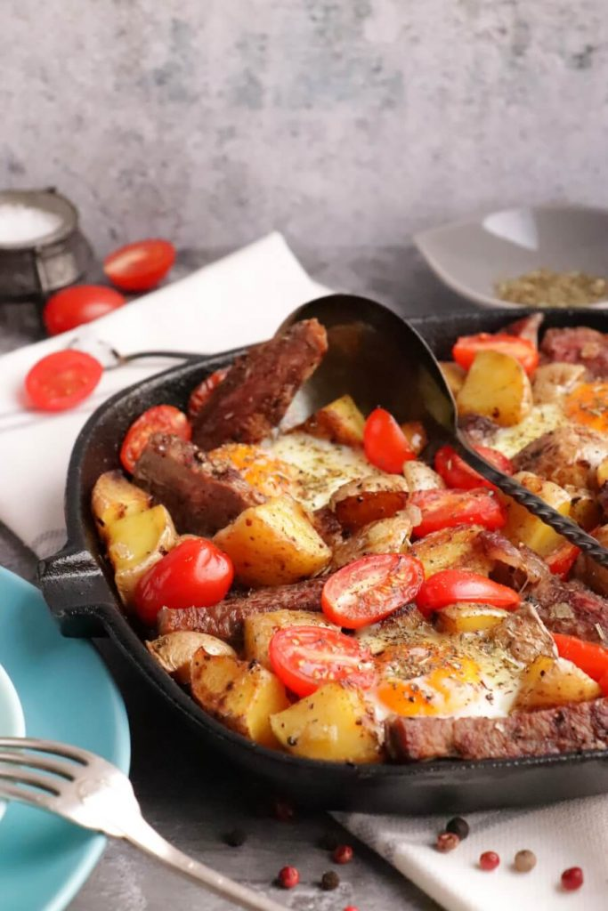 Easy Steak and Egg Hash