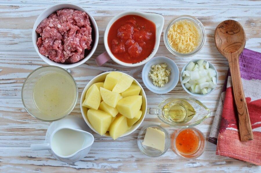 Ingridiens for Super-Easy Cottage Pie