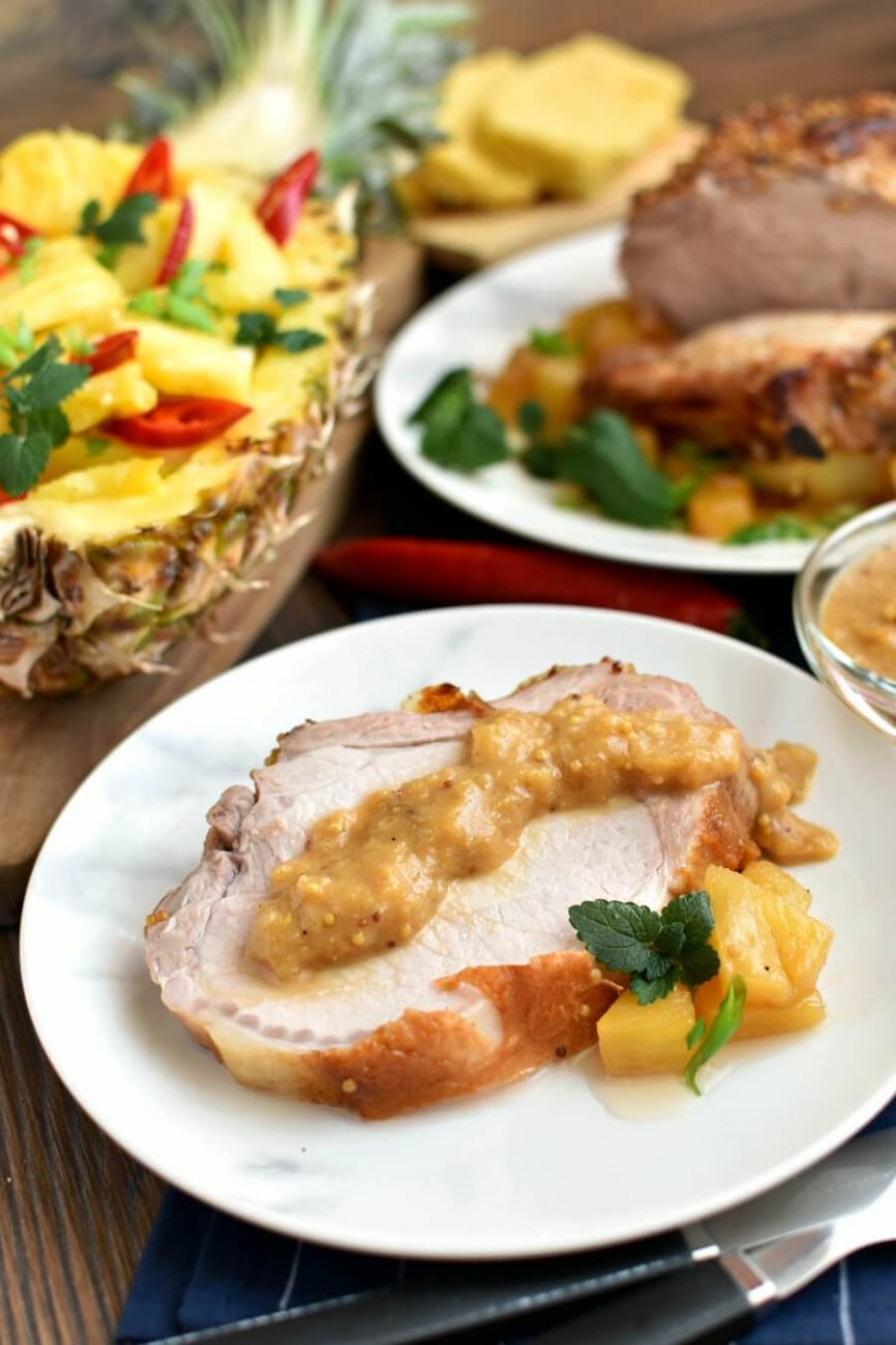 Sweet and Savory Pineapple Pork Loin