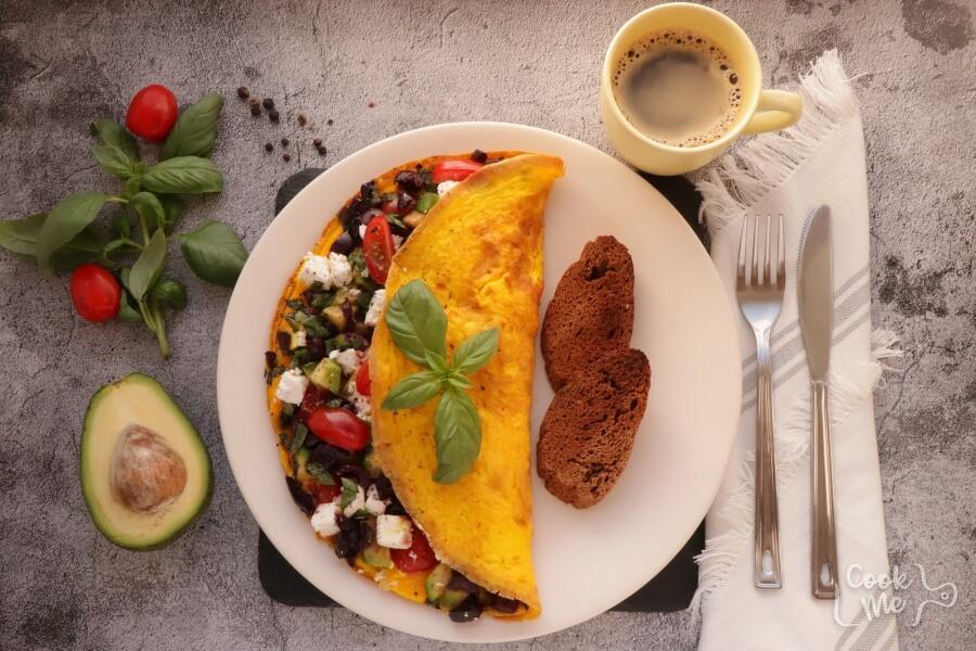 How to serve Avocado Greek Omelet