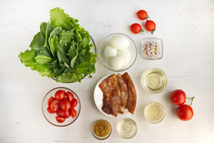 Ingridiens for BLT Salad with Sweet Onion Vinaigrette