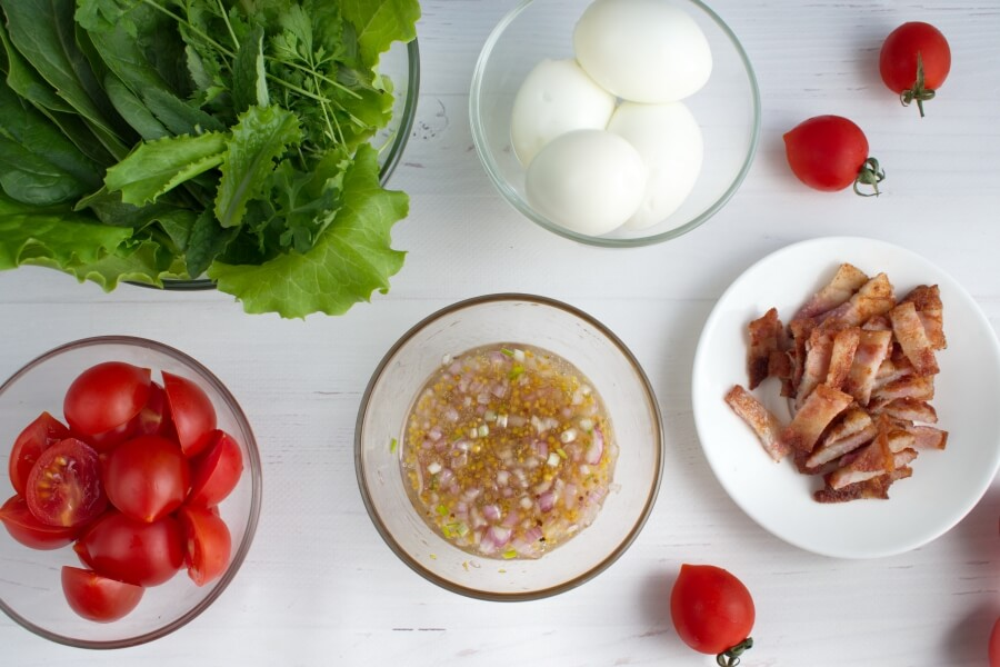 BLT Salad with Sweet Onion Vinaigrette recipe - step 1