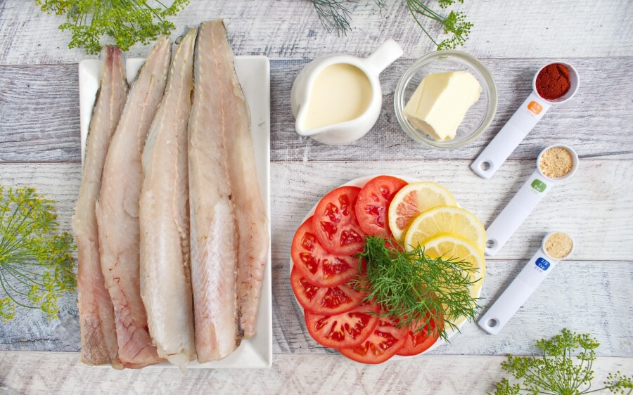 Ingridiens for Keto Baked Whiting