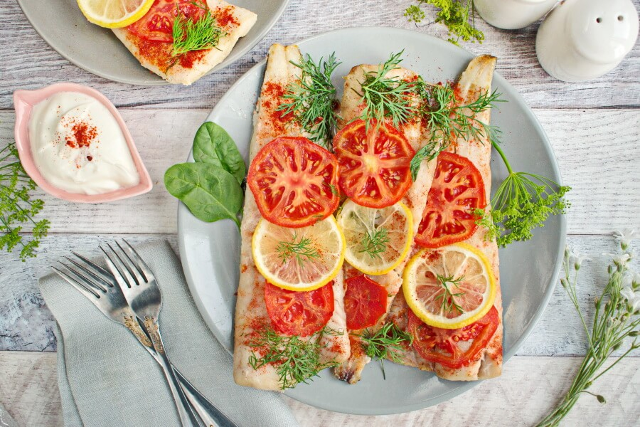 Baked Whiting recipe-Baked Fish with vegetables-Delicious Baked Fish