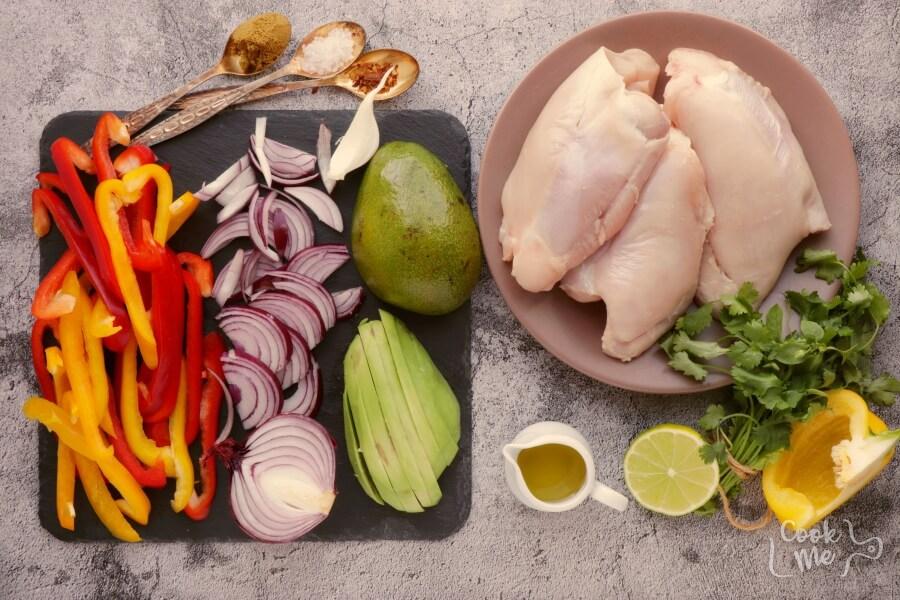 Ingridiens for Best Chicken Fajitas