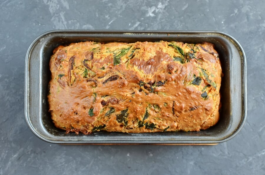 Caramelized Onion & Spinach Olive Oil Quick Bread recipe - step 9