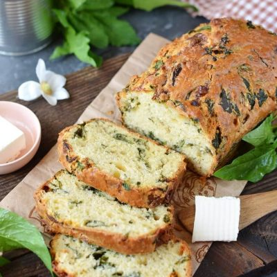 Caramelized Onion & Spinach Olive Oil Quick Bread recipe-Caramelized Onion Spinach Olive Oil Quick Bread-Caramelized Onion Spinach Olive Oil Quick Bread Recipe