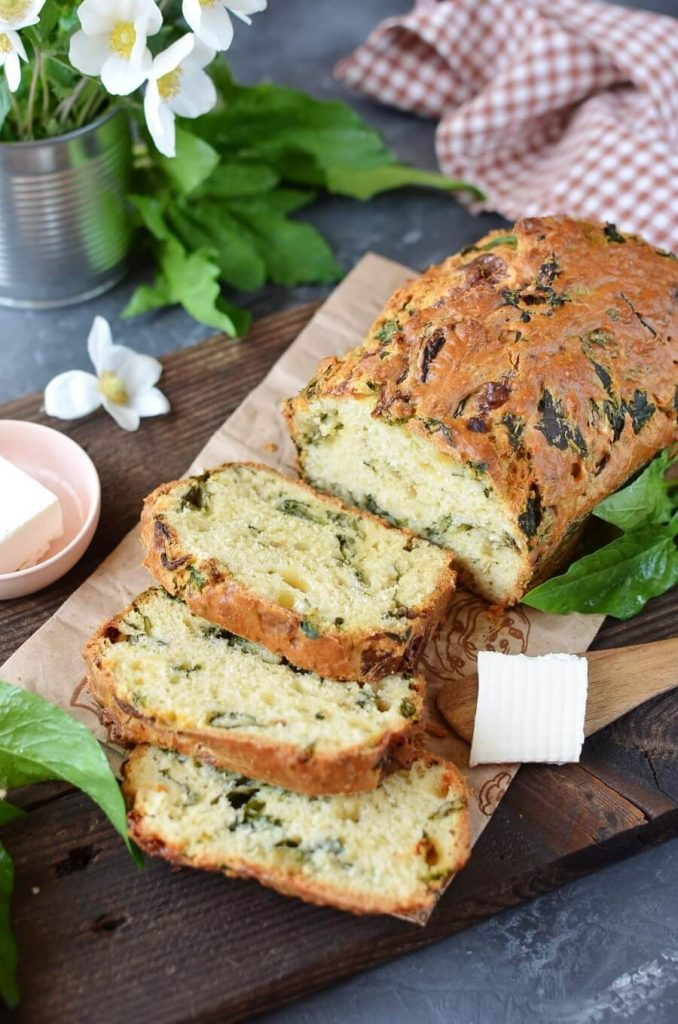 Homemade Caramelized Onion & Spinach Olive Oil Bread