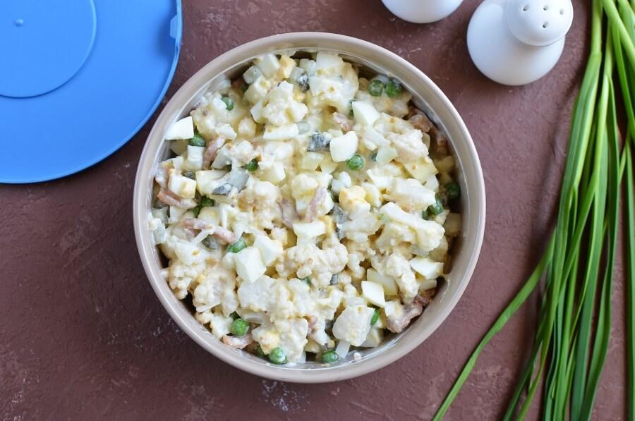 Keto Low Carb Cauliflower Salad recipe - step 4