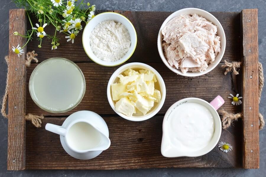 Ingridiens for Chicken Velvet Soup