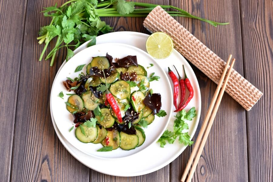 How to serve Vegan Chilled Cucumber and Wood Ear Mushroom Salad